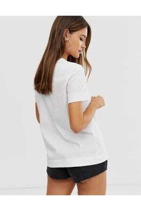 Tommy Hilfiger Ess-chest Print Logo Kadın Tshirt 3