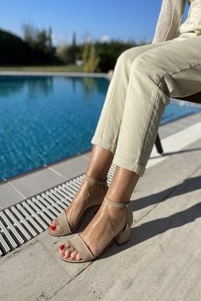 İnan Ayakkabı Kadın Tek Bant Bilekli Topuklu Ayakkabı 2