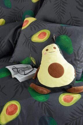 Fushia Avocado Dark %100 Pamuk Tek Kişilik Avakado Nevresim Takımı 3