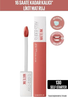 Maybelline New York Super Stay Matte Ink City Edition Likit Mat Ruj - 130 Self-starter 0