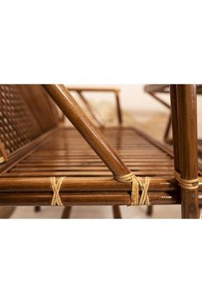 Bambu Bahçe Balkon Masa Takımı Oturma Grubu 3
