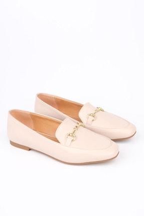 Marjin Kadın Bej Loafer Ayakkabı Bekla 2