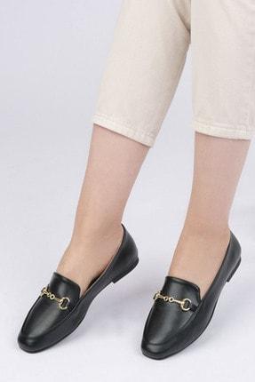 Marjin Kadın Siyah Loafer Ayakkabı Bekla 1