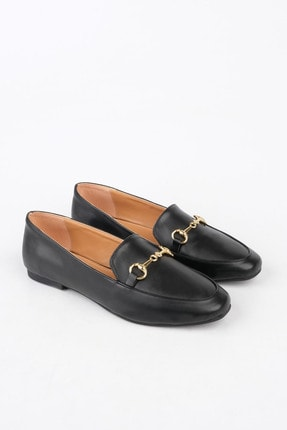 Marjin Kadın Siyah Loafer Ayakkabı Bekla 3