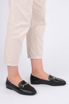 Marjin Kadın Siyah Loafer Ayakkabı Bekla 4