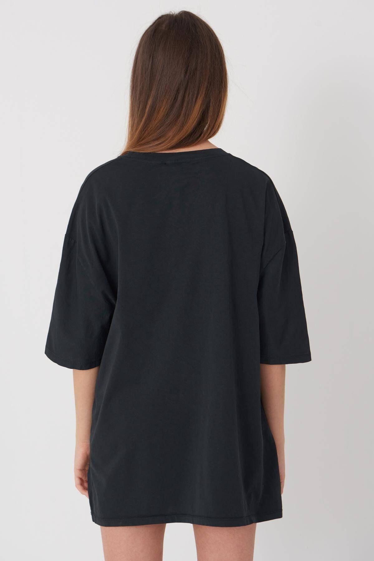 Addax Baskılı T-shirt P9396 - C11 4