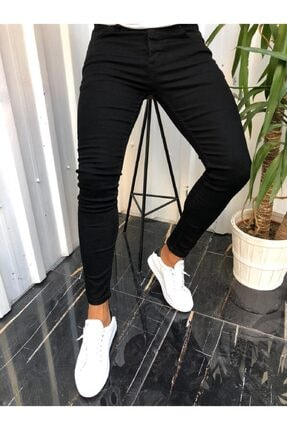 HemDem Erkek Siyah Skinny Fit Jeans Pantolon 0