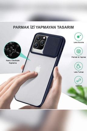 KZY İletişim Samsung Galaxy A71 Uyumlu Kapak Lensi Açılır Kapanır Kamera Korumalı Silikon Kılıf 3