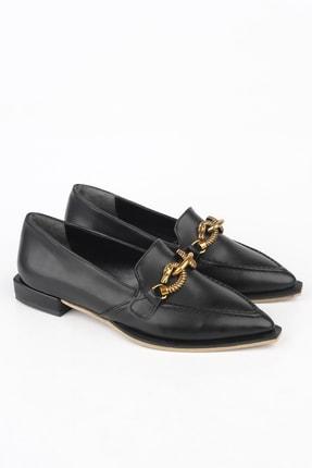 Marjin Kadın Siyah Loafer Ayakkabı Tolira 1