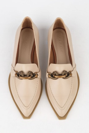 Marjin Kadın Bej Loafer Ayakkabı Tolira 0