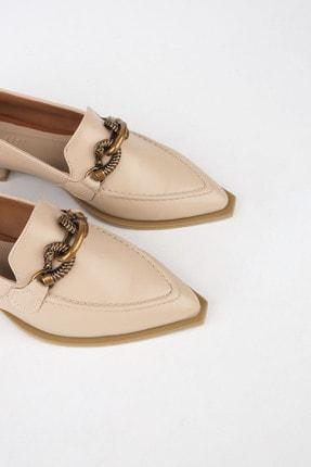 Marjin Kadın Bej Loafer Ayakkabı Tolira 2