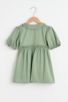 LC Waikiki Kız Bebek Açık Haki Quw Elbise 1