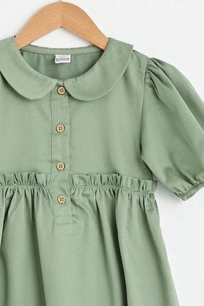 LC Waikiki Kız Bebek Açık Haki Quw Elbise 2
