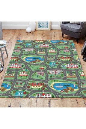 Modahalım Oyun Şehri - Antialerjik, Kaymaz Çocuk Odası Halısı 0
