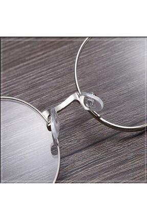 Retro Unisex Yuvarlak Şeffaf Gözlük 1