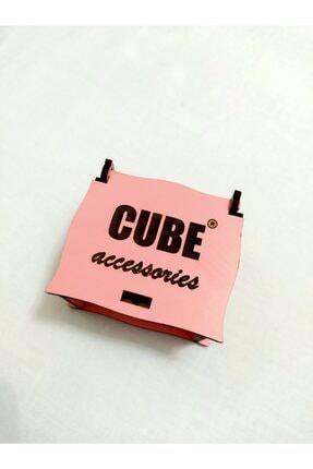 Cube Lotus Beyaz Taşlı Kolye Ve Yüzük 14 K Rose Gold Kaplama 3
