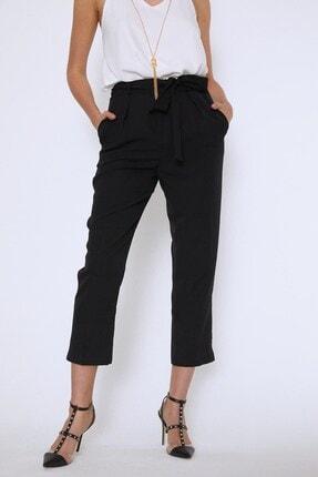 Quzu Kadın Siyah Beli Kuşaklı Pantolon 1