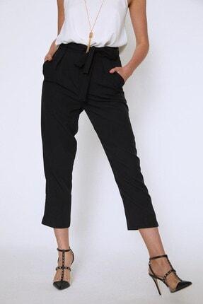 Quzu Kadın Siyah Beli Kuşaklı Pantolon 3