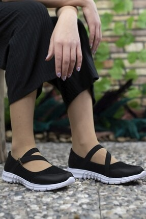 Riccon Kadın Siyah Beyaz Casual Ayakkabı 0012601 2