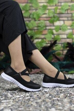 Riccon Kadın Siyah Beyaz Casual Ayakkabı 0012601 4