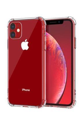 Soffy Şeffaf Iphone 11 Uyumlu Köşeleri Airbag Korumalı Shield Silikon Kapak Kılıf 0