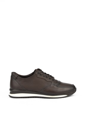 Picture of , Erkek Hakiki Deri Sneaker 111415 455109 Kahve