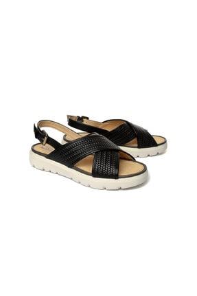 Geox Kadın Siyah Topuklu Sandalet D827wb-c9999 1