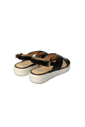 Geox Kadın Siyah Topuklu Sandalet D827wb-c9999 3
