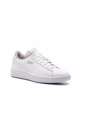 Puma Kadın Beyaz Spor Smash V2 L Jr Ayakkabı 36517002 1