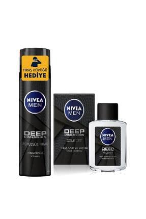 Nivea Men Deep Tıraş Köpüğü 200 ml + Men Tıraş Sonrası Losyon Deep 100 ml 0