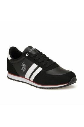US Polo Assn Erkek Siyah Plus Comfort Casual Günlük Spor Ayakkabısı 0