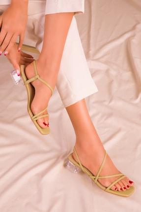 Soho Exclusive Yeşil Kadın Klasik Topuklu Ayakkabı 15822 2