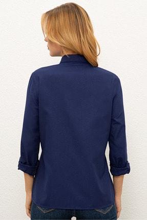 US Polo Assn Lacivert Kadın Dokuma Gömlek 2
