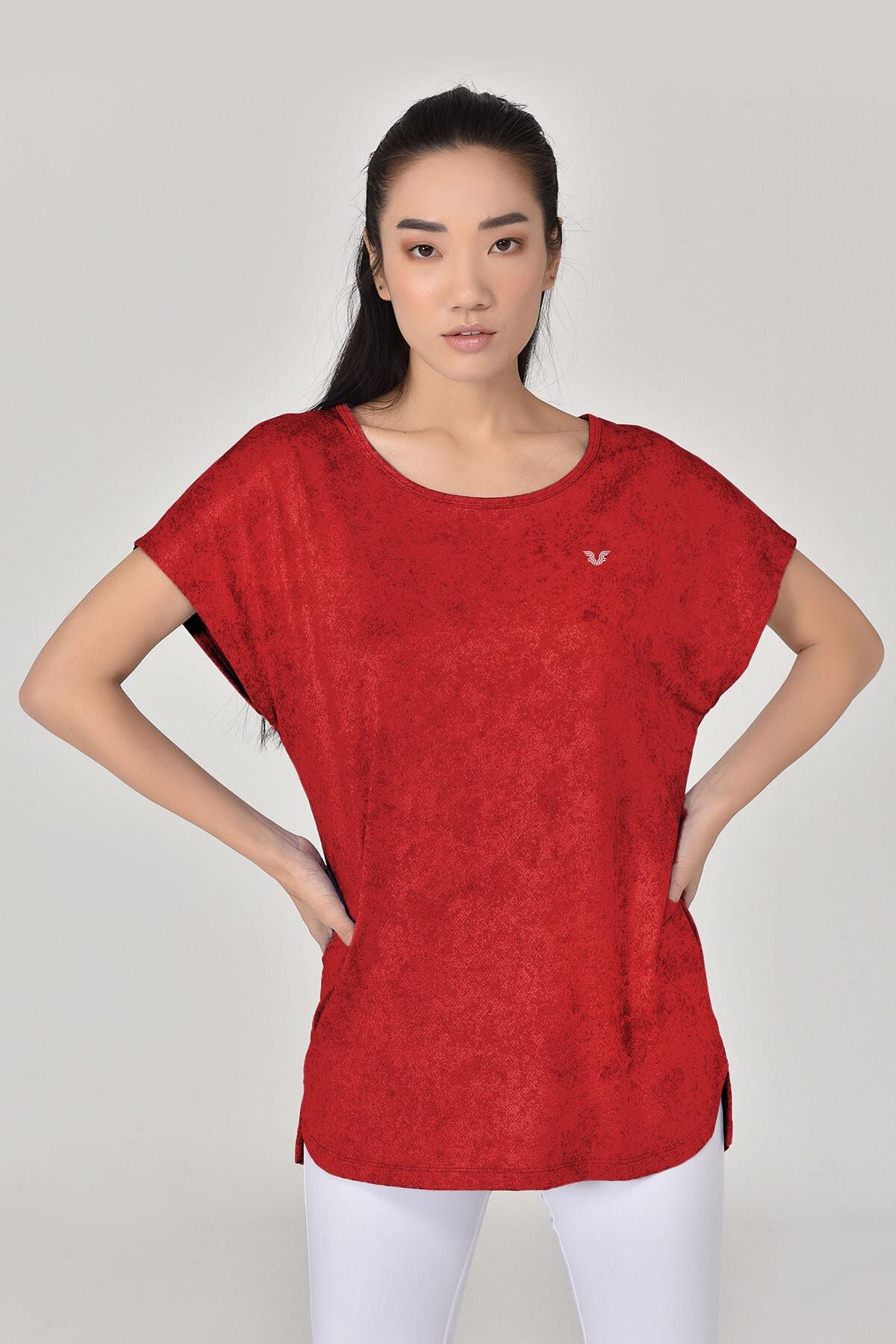 bilcee Kadın  Bordo Tshirt 8075