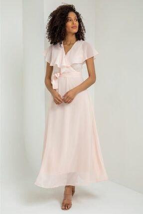 Kemerli Şifon Elbise kemerli şifon elbise