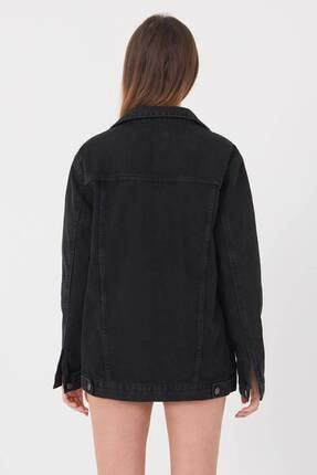 Addax Kadın Siyah Uzun Boyfriend Ceket C6301 - A10 ADX-00008194 4
