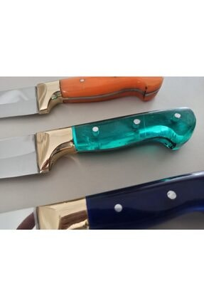 Lazoğlu 3 Adet Sürmene Mutfak Aşcı Şef Karbon Çelik Özel Üretim Bıçak Seti Bıçağı 1