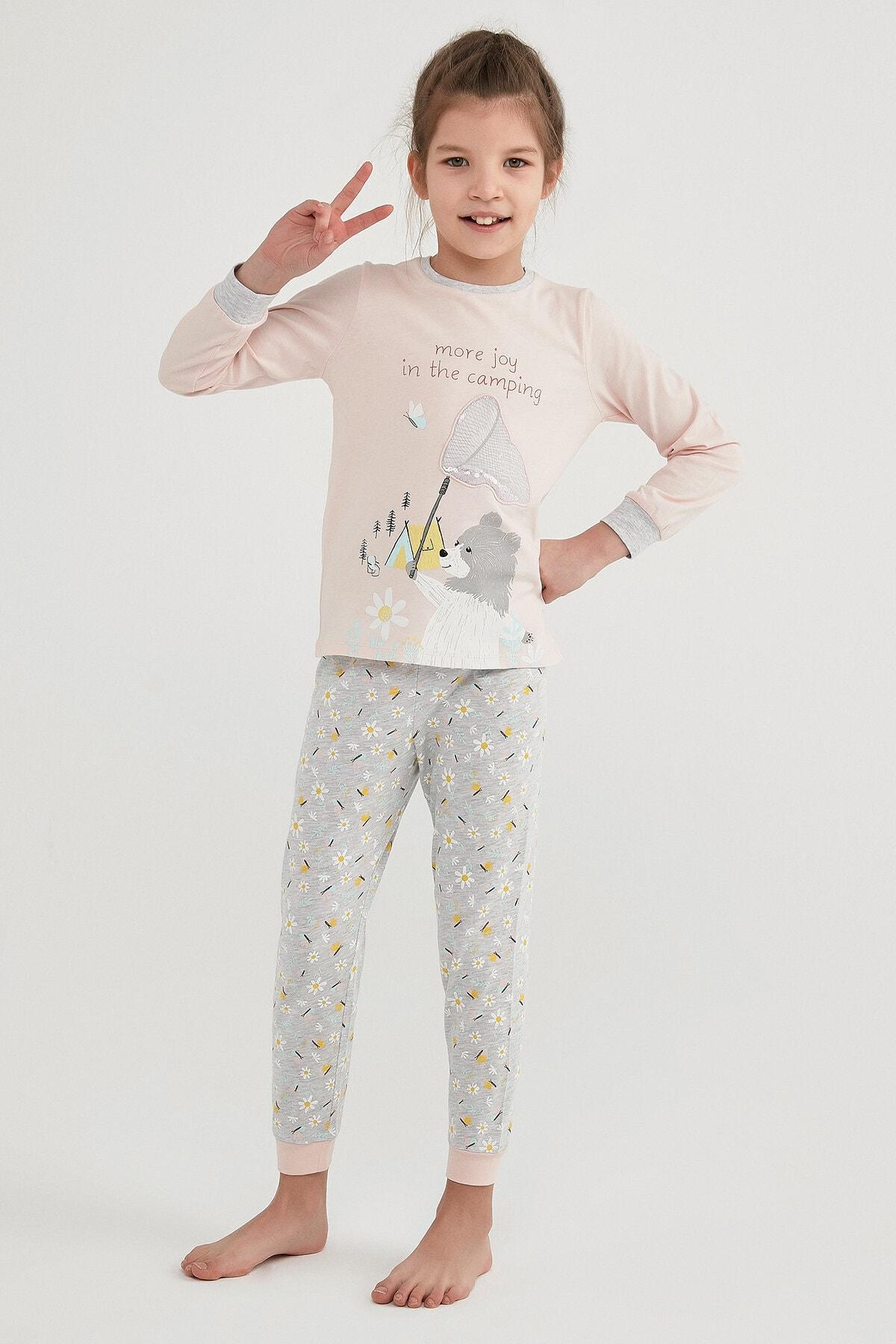Penti Kız Çocuk Çok Renkli Campıng Joy Ls 2li Pijama Takımı 0