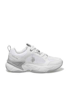 US Polo Assn MAYBE WMN Beyaz Kadın Sneaker Ayakkabı 100605072 1