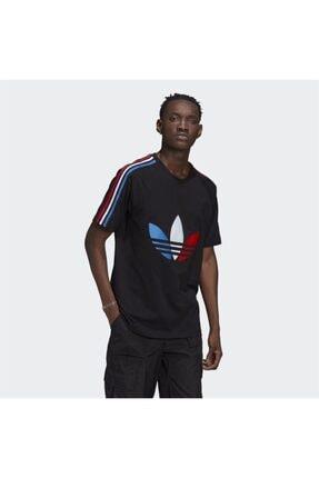 adidas Erkek Siyah Adicolor Tricolor Tişört 0
