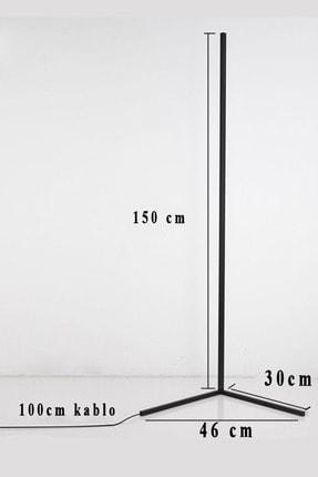 thorqtech Alfonso Metal Dekoratif Minimalist Led Lambader 150x30cm Animasyonlu Kumandalı Renkli Köşe Lambası 3