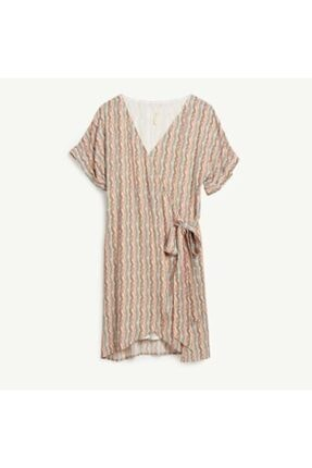 Yargıcı Kadın Turuncu Bağlama Detaylı Elbise 4