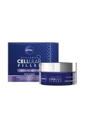 Nivea Hyaluron Cellular Fıller + Dolgunlaştırıcı Yaşlanma Karşıtı Gece Kremi 50 ml 1