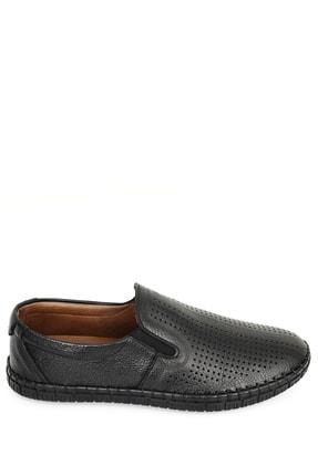 GÖNDERİ(R) Hakiki Deri Siyah Erkek Günlük (Casual) Ayakkabı 01225 1