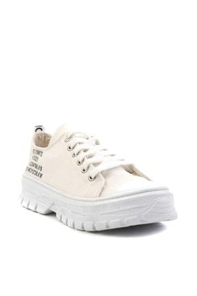 Bambi Bej Keten Kadın Sneaker K01530110518 2