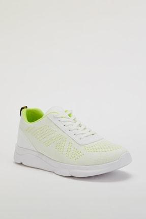 Muggo Unisex Beyaz Yeşil Sneakers Ayakkabı Svt17 1