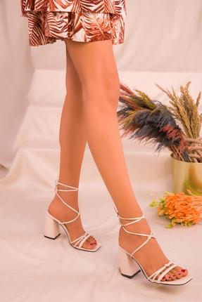 Soho Exclusive Bej Kadın Klasik Topuklu Ayakkabı 16175 2