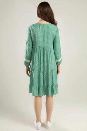 Pattaya Kadın Puantiyeli Dantel Detaylı Elbise Y20s110-1637 3