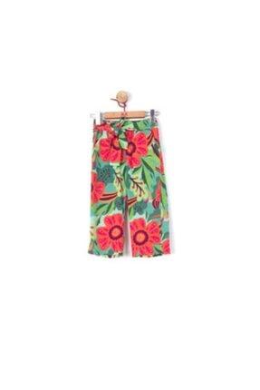 Picture of 56200 Kız Çocuk Yeşil Flower Pantolon
