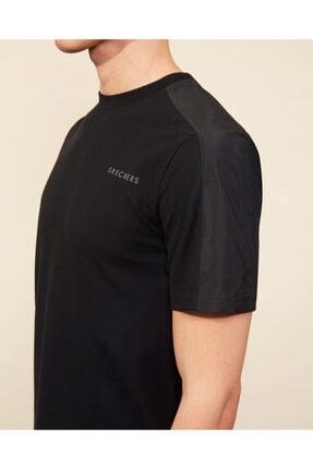 Skechers Graphic Tee M Crew Neck T-Shirt Erkek Siyah Tshirt 4